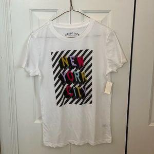 Aeropostale Classic Crew White NYC T-Shirt